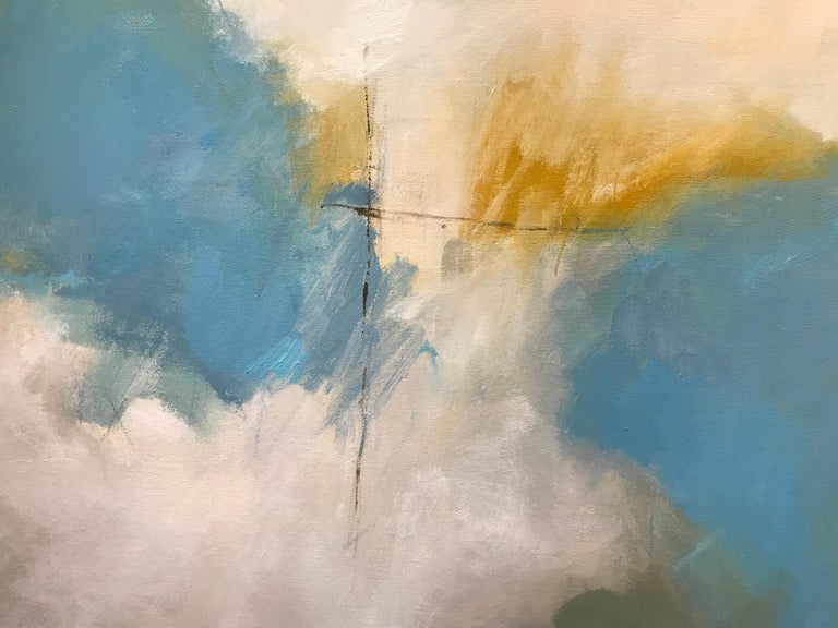 Abundance by Marcy Gregg, Large Framed Abstract Oil on Canvas Vertical Painting For Sale 1