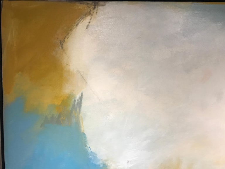 Abundance by Marcy Gregg, Large Framed Abstract Oil on Canvas Vertical Painting For Sale 4
