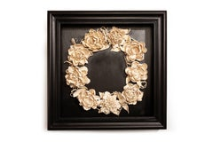 Peony Wreath, wall hanging sculpture by Marcy Lally
