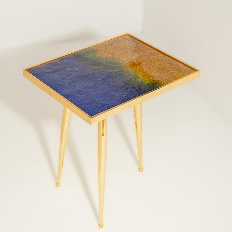 Modern Marea Estate Side Table by form A For Sale