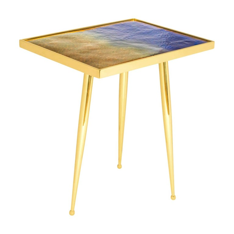 Marea Estate Side Table by form A For Sale