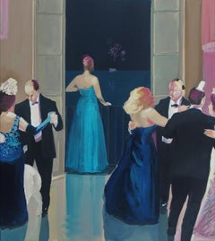 Ball - XXI century, Figurative oil realist painting, Colorful