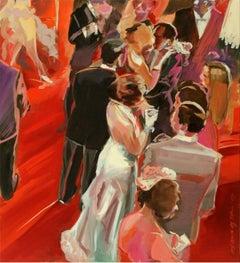 Ball - XXI century, Figurative realist oil painting