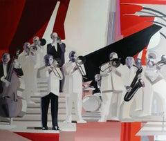 Evening concert - XXI century, Figurative realist oil painting