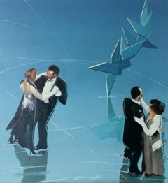 Icerink - XXI century, Oil figurative painting, Colorful, Realism