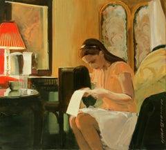 Letter - XXI century, Figurative realist oil painting