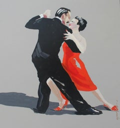 Tango 03 - XXI Century, Contemporary Figurative Oil Painting, Portrait