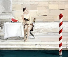 Venice - XXI century Figurative Realist Oil Painting, Architecture, Muted Colors