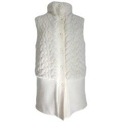 Marella White Reversible Vest Jacket