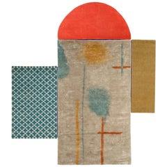 Marelle Rug, European, Minimalist, Wool, 20th Century
