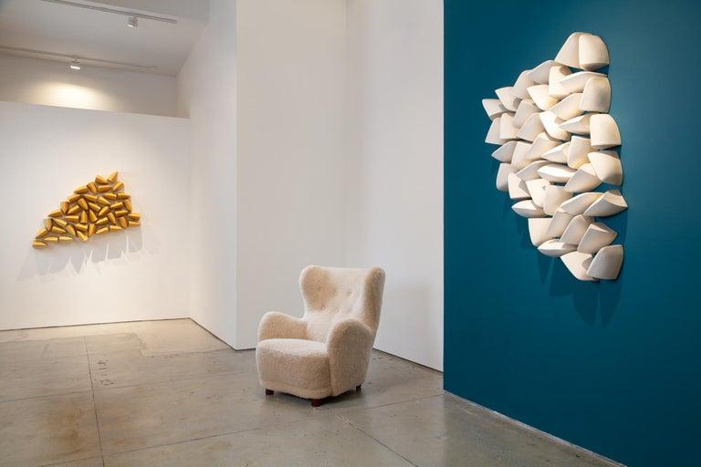 Fragment I - Gray Abstract Sculpture by Maren Kloppmann