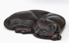Schlafende Katze (Sleeping Cat) - Bronze, Sculpture, Scholar of Henri Matisse