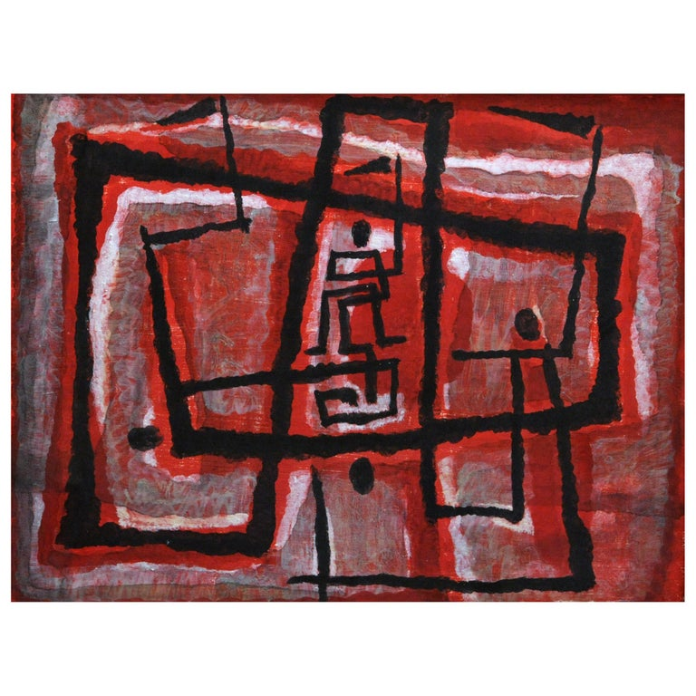 Margaret Balzer Cantieni Abstract Modern Painting, 1946 For Sale