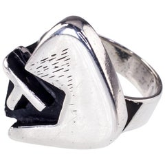 Margaret de Patta Designer Sterling Silver Modernist Ring