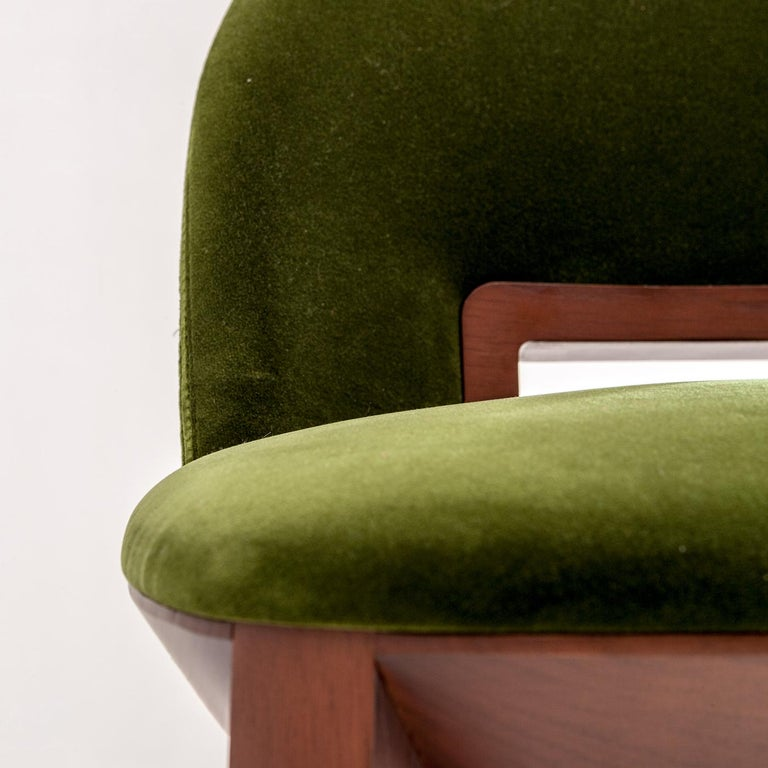 Modern Margaret Green Stool by Cesare Arosio For Sale