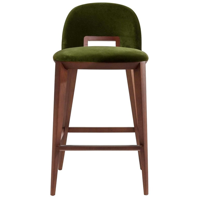 Margaret Green Stool by Cesare Arosio For Sale