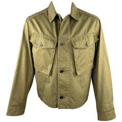 MARGARET HOWELL Size XS Olive Cotton Patch Pockets Jacket