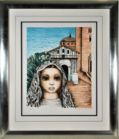 San Francisco, Girl with Mission Dolores