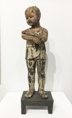 """Little Dancer with Moth"", Contemporary Figurative Ceramic Sculpture"