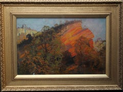 A Geological Landscape - British art early 20th century landscape oil painting
