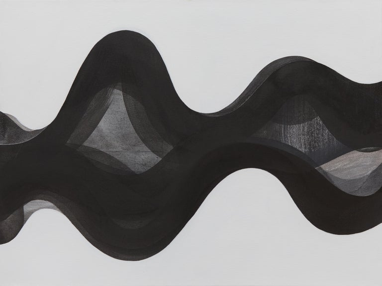 In acrylic paint and India ink, Margaret Neill's painting TERRAIN investigates the properties of abstract curvilinear forms found in the localized conditions of her surrounding environment. This experience is sublimated in a process both primal and