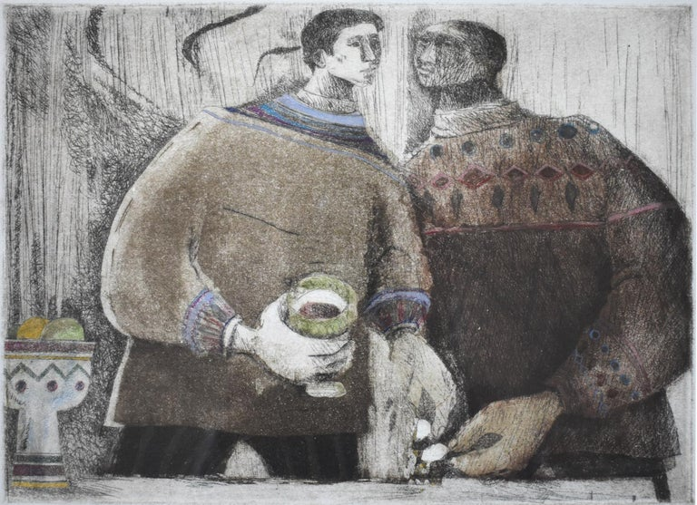"Margaret Putnam Figurative Painting - ""A Drink"""