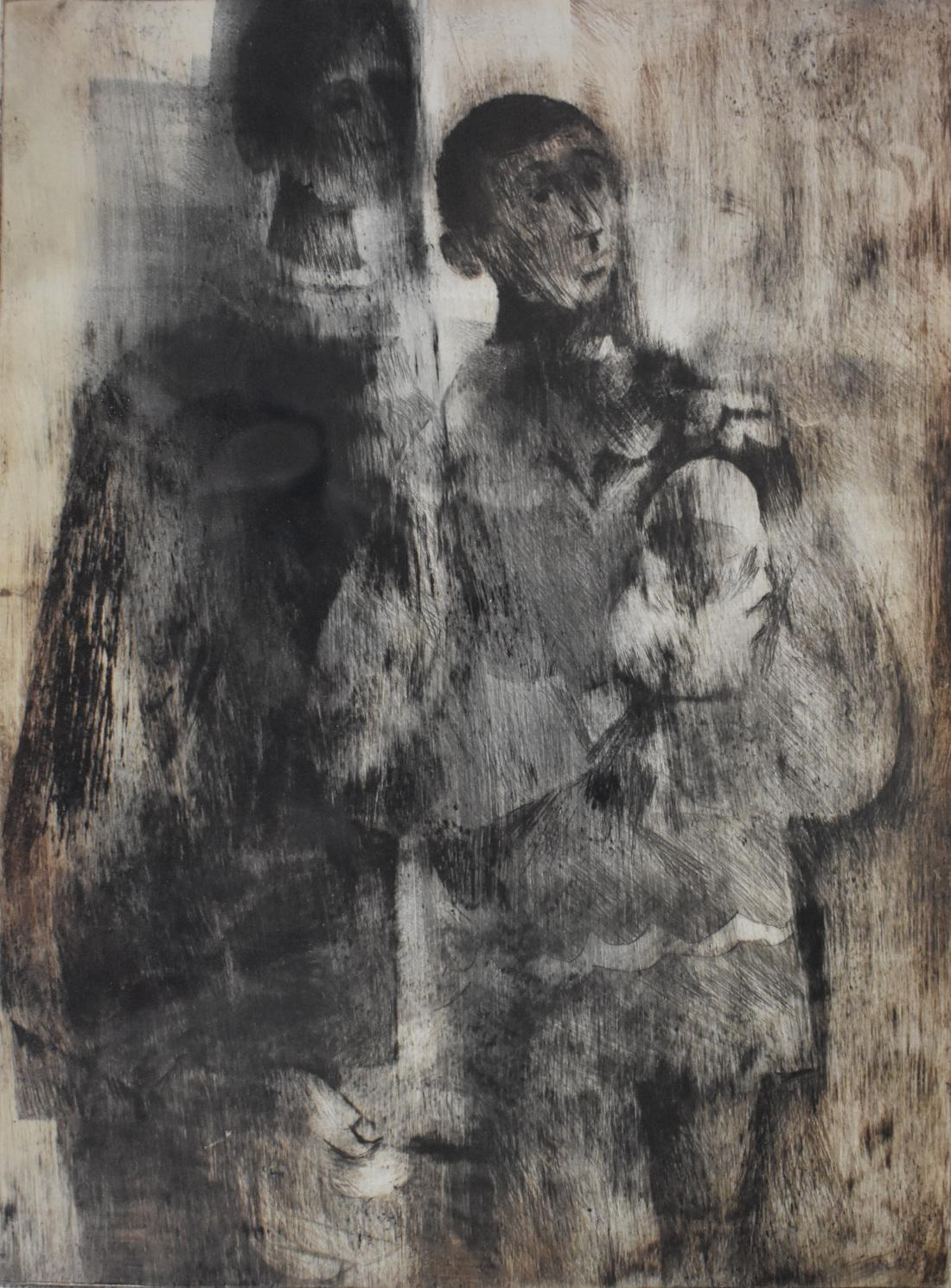 """""""Two Figures"""" Etching"""