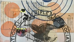 "Margaret Roleke, 75ft Small Bore 2018  15"" x 8 3/4"" monoprint, collage, pencil"