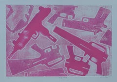 Margaret Roleke, Pretty Pink, 2015, etching, drypoint with aquatint, 15 x 22