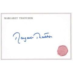 Margaret Thatcher Autograph on Card