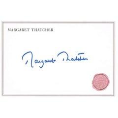 Margaret Thatcher Signature