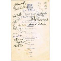 Margaret Thatcher Signed Menu
