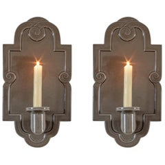 Margareta Hennix for Gustavsberg, Pair of Swedish Stoneware Wall Lights