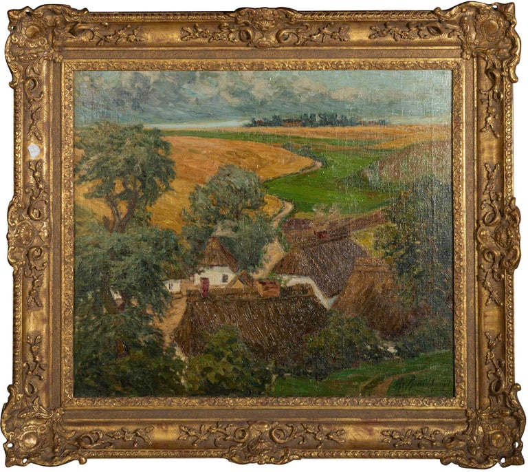 Margarethe Von Rauchhaupt (XX) Oil on Canvas Bears signature lower right: M Rauchhaupt and frame stamped: E.W. WENDT Sudbury picture frames Size with frame: Height 33.5 in. (85.09 cm.), Width 38.12 in. (96.82 cm.) Canvas Sight Size Height
