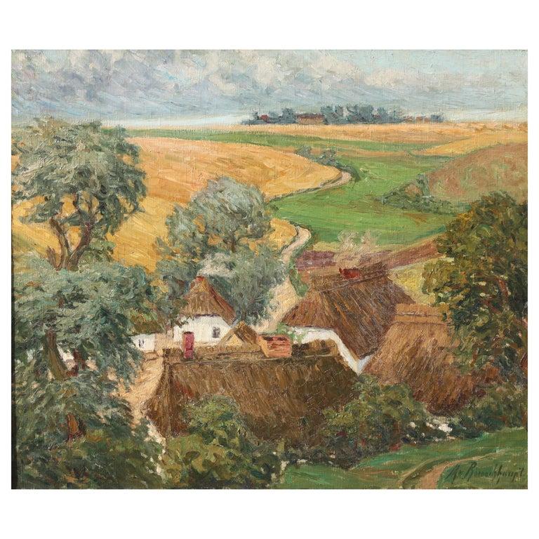 Margarethe Von Rauchhaupt 'xx' Oil on Canvas For Sale