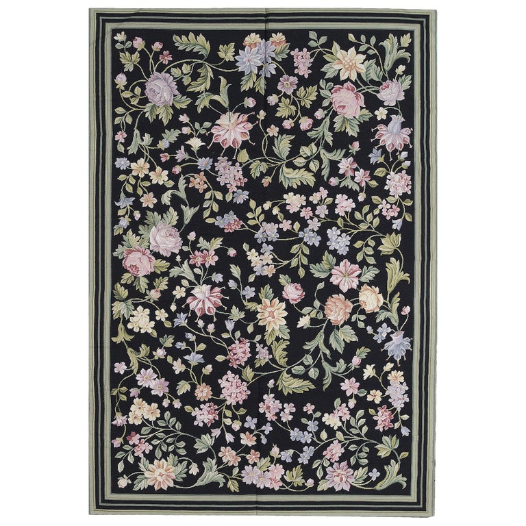 Margate Classic Needlepoint Rug AZM For Sale