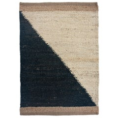 Margeaux Black and White Geometric Handwoven Modern Jute Rug, Carpet and Durrie