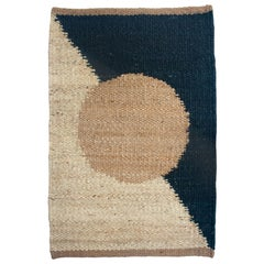 Margeaux Circle Geometric Handwoven Modern Jute Rug, Carpet and Durrie
