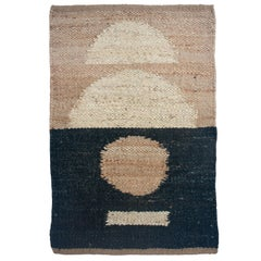 Margeaux Earth Geometric Handwoven Modern Jute Rug, Carpet and Durrie