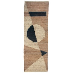 Margeaux Shapes Modern Handwoven Geometric Jute Rug, Carpet and Durrie