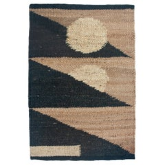 Margeaux Triangles Geometric Handwoven Modern Jute Rug, Carpet and Durrie