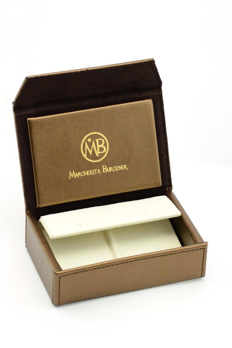 Women's Margherita Burgener 18 Karat Gold Diamond Amethyst Clip Earrings For Sale