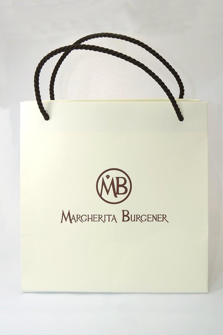 Margherita Burgener 18 Karat Gold Diamond  Starlite Blue Titanium Earrings For Sale 1