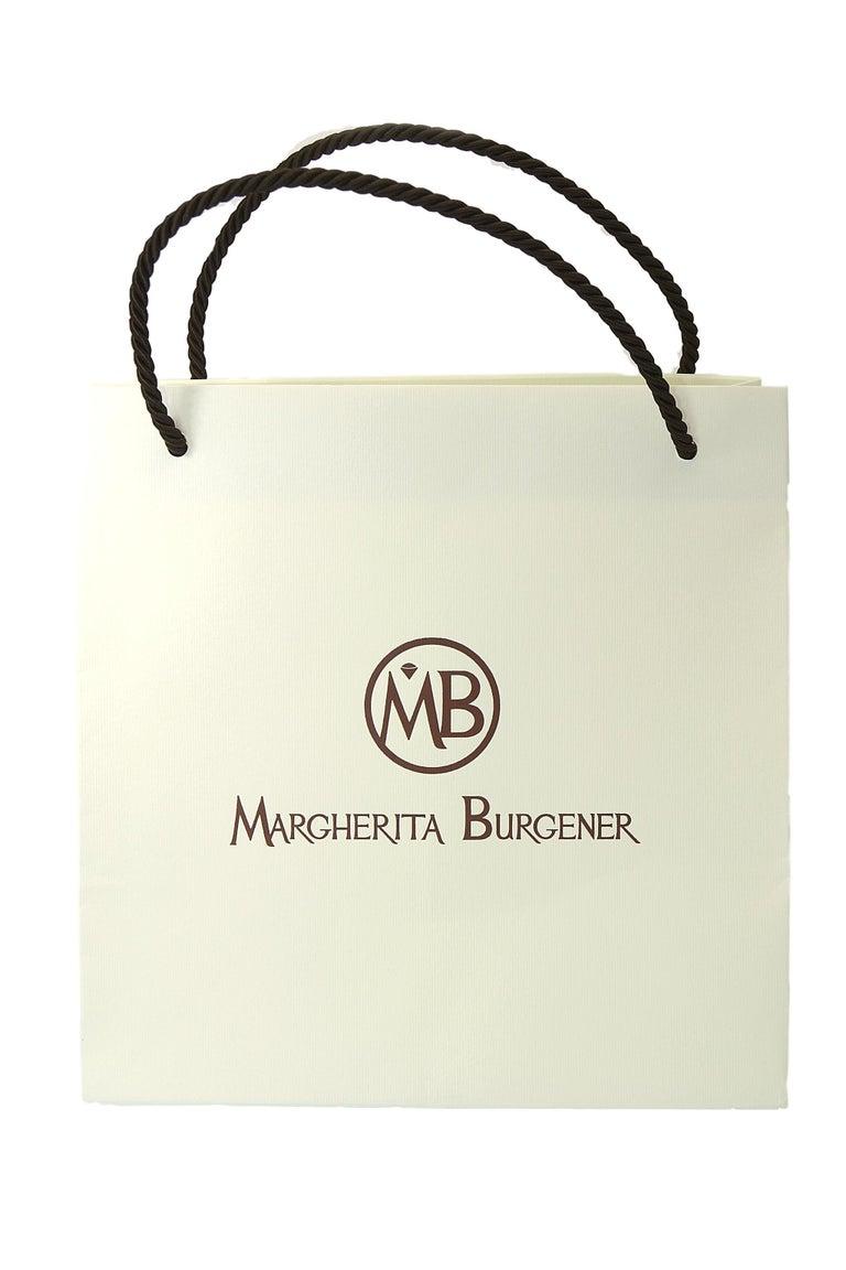 Women's Margherita Burgener Pink Titanium Diamond 18 Karat Gold Clip Stud Earrings For Sale