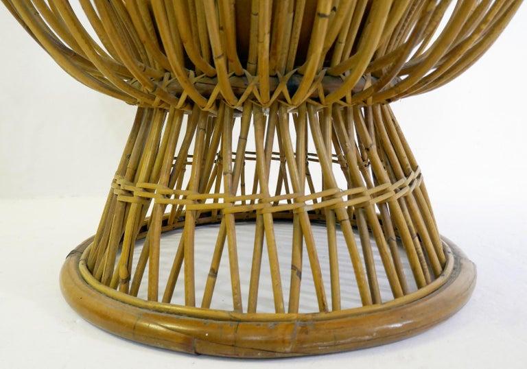 Wood Margherita Rattan Armchair by Franco Albini for Bonacina, 1950s For Sale