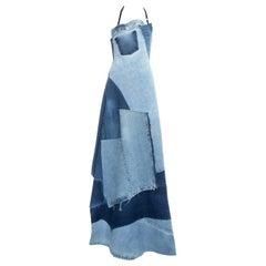 Margiela Artisanal patchwork denim apron dress, ss 1999
