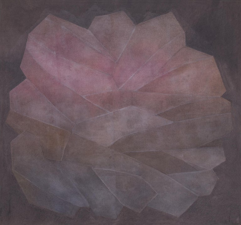 Crystal, Series #3 Rose - Painting by Margo Hoff
