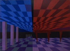 Untitled (Abstract in Blue, Red, Purple and Black)