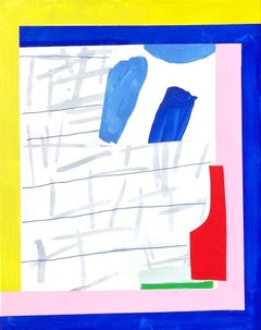 """Afternoon: Small Abstraction with Blue, Pink, Red, Yellow, and Green"""