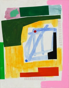 """Perfect Day: Small Abstraction of Green, Yellow, Blue, Red, and Pink"""